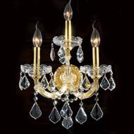 3 Light Maria Theresa Crystal Wall Sconce KL-41039-3-G