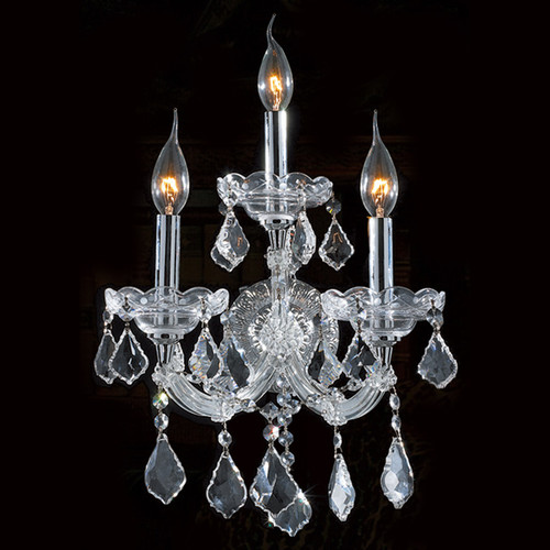 3 Light Maria Theresa Crystal Wall Sconce KL-41039-3-C