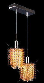 Colored Pendant Crystal Chandelier 2008-O-P-L2