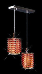Colored Pendant Crystal Chandelier 2008-0-S-L2