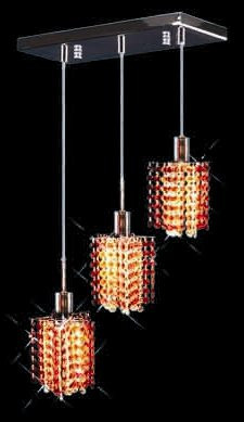 Colored Pendant Crystal Chandelier 2008 - O-P-L3