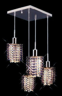 Colored Pendant Crystal Chandelier 2008 - S-S-L4