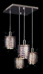 Colored Pendant Crystal Chandelier 2008 - S-P-L4