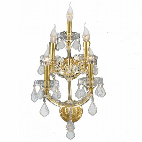 5  Light Maria Theresa crystal Wall Sconces KL-41039-1230-G