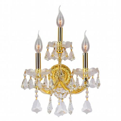 3 Light Maria Theresa crystal Wall Sconces KL-41039-1222-G
