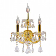 3 Light Maria Theresa crystal Wall Sconces KL-41039-1222-G