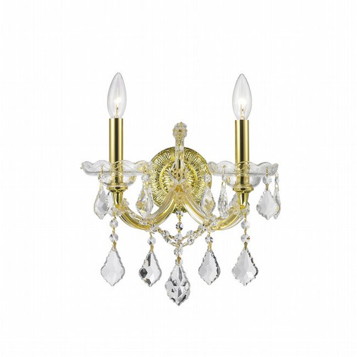 2 Light Maria Theresa crystal Wall Sconces KL-41039-1216-G