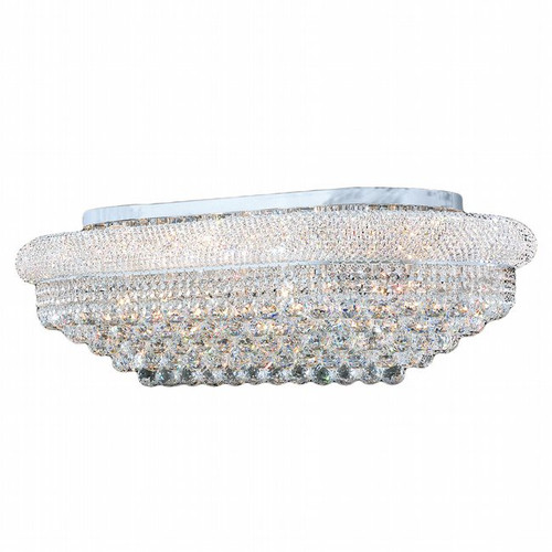 Bagel Crystal Flush Mount Light Oval KL-41035-4024-G
