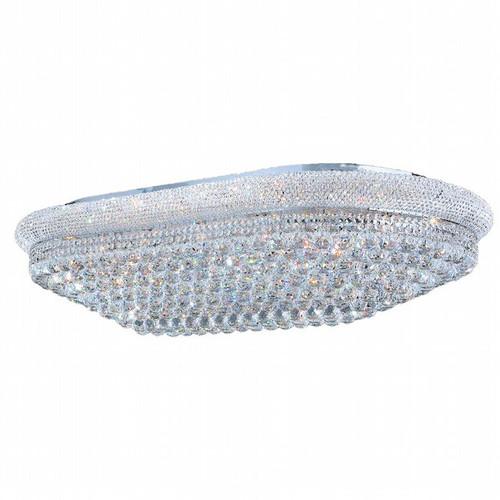 Bagel Crystal Flush Mount Light Oval KL-41035-4024-G