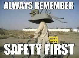 Funny Post Guy Wearing Wheel Barrel For Hard Hat Texas America