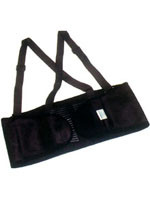 Economy Back Support With Straps Size Large # EB100-LG pic 2