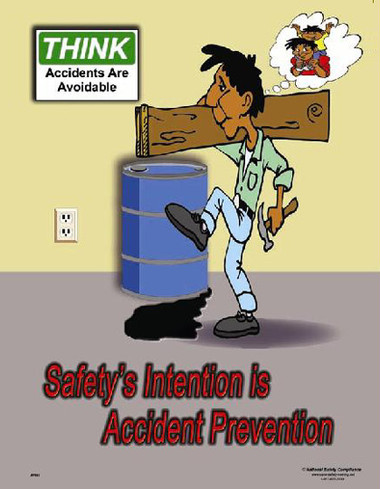 Accident Prevention Posters in ENGLISH  pic 1