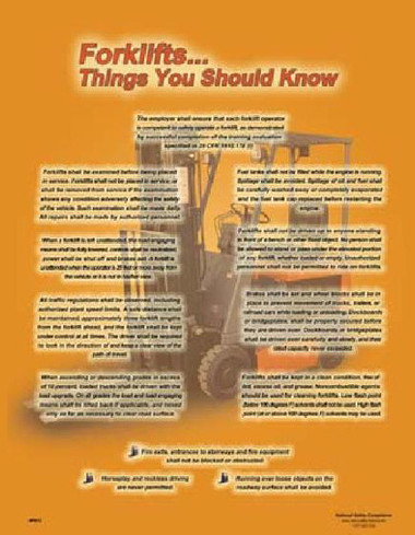 Forklift...Things You Should Know Posters in ENGLISH  pic 1