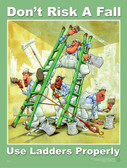 Ladder Safety Posters in ENGLISH  pic 1