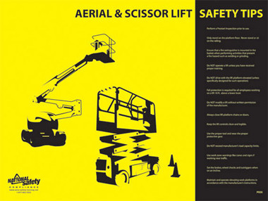 Aerial and Scissor Lift Safety Posters in ENGLISH  pic 1