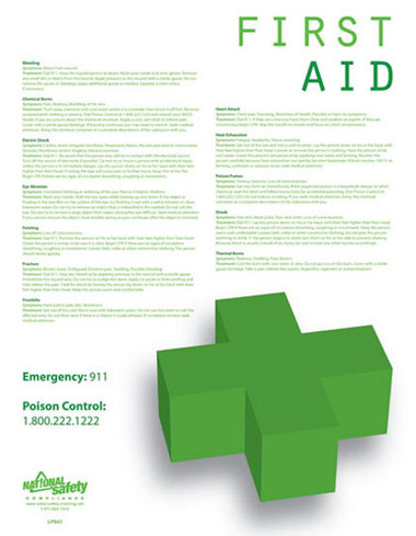 First Aid Safety Posters in ENGLISH  pic 1