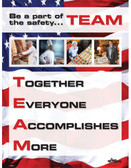 Restaurant TEAM Safety Posters in ENGLISH  pic 1