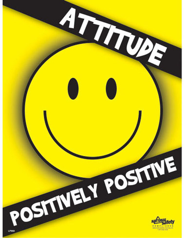 Positive Attitude Safety Posters in ENGLISH  pic 1