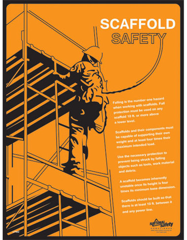 Scaffold Safety Posters in ENGLISH  pic 1
