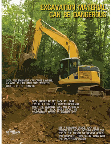 Excavation & Trenching Safety Posters in ENGLISH  pic 1