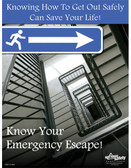 Emergency Escape Safety Posters in ENGLISH  pic 1