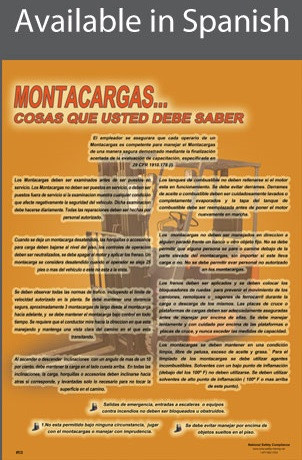 Forklift...Things You Should Know Poster in SPANISH  pic 1
