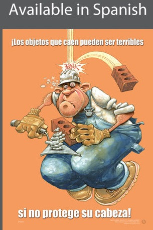 Falling Objects Safety Poster in SPANISH  pic 1