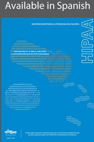 HIPAA Medical Poster in SPANISH  pic 1
