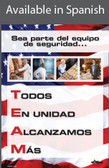 Restaurant TEAM Safety Poster in SPANISH  pic 1