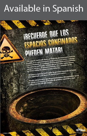 Confined Spaces Can Kill Poster in SPANISH  pic 1
