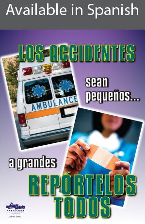 Accidents Report Them All Safety Poster in SPANISH  pic 1