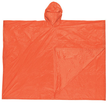 MCR Schooner Rain Poncho, 10 mil thickness, Orange   pic 1