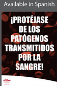 Bloodborne Pathogens Safety Poster in SPANISH  pic 1