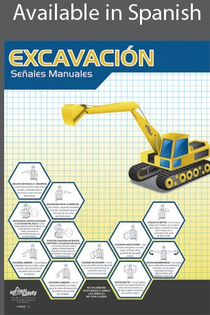 Excavation Hand Signals Poster in SPANISH  pic 1