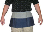 "Blue Denim Apron, Carpenters Apron, 12""x 24"" SINGLE  pic 1"