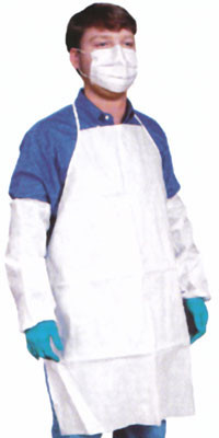 Sunsoft Bib Style Disposable 28x36 White Aprons   pic 1