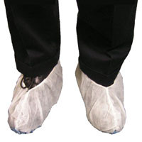 Polypropylene Heavy Duty Jumbo White Shoe Covers  pic 2