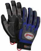 MCR Force Flex Gloves Blue (Pair) Pic 1