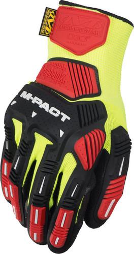 Mechanix ORHD Knit Utility Yellow Gloves, Part # KHD-GP - Back View