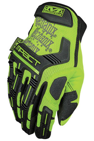 Mechanix M-Pact Glove Hi Viz Yellow (Pair) - All Sizes