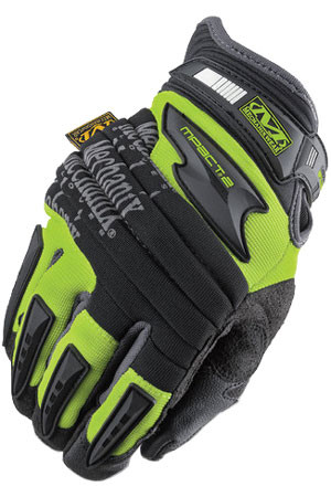 Mechanix Gloves Mpact-2 Hi Viz Lime Color (Pair) - All Sizes