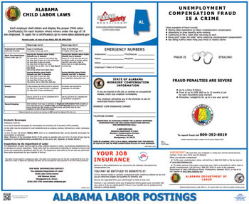 Alabama State Labor Law Poster