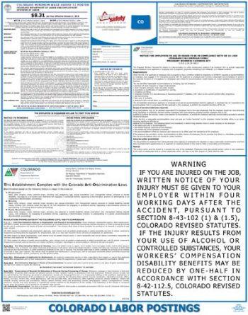 Colorado State Labor Law Poster
