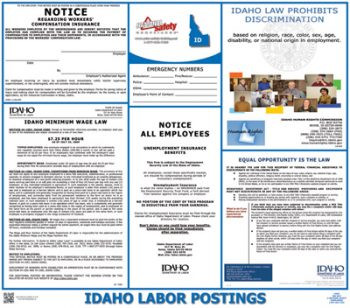 Idaho State Labor Law Posters