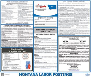 Montana State Labor Law Poster