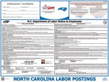 North Carolina State Labor Law Poster