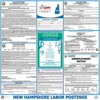 New Hampshire State Labor Law Poster