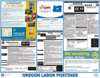 Oregon State Labor Law Posters
