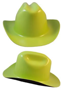 Cowboy Hardhat ~ Hi Viz Green