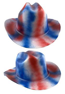 Cowboy Hardhat ~ Patriotic Colors